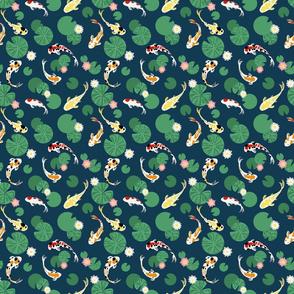 Koi pond seamless // small