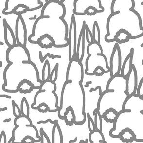 gray bunny fabric