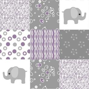 purple elephant quilt