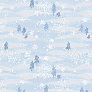 Winter Snowflakes Rolling Hills