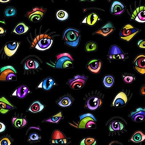 Eye Colors - Rainbow Eyes Eyeballs Halloween Dark