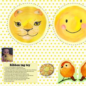 sun lion ribbon toy