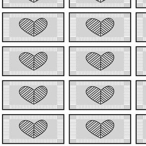 Jewish Hearts Gray
