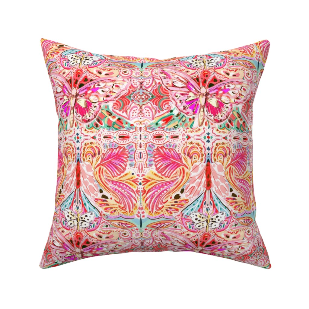 Catalan Throw Pillow featuring Butterfly Journey by jeanetta_gonzales