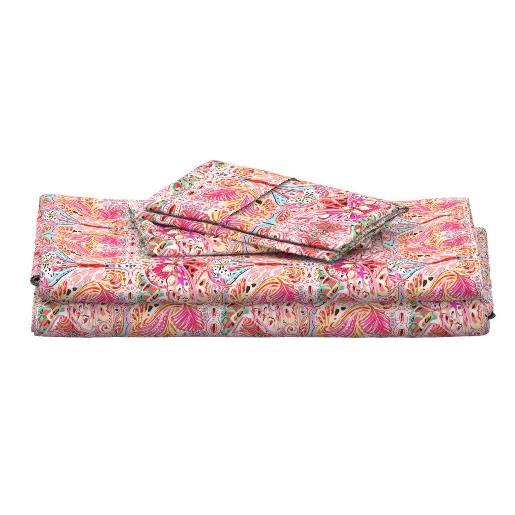 Langshan Full Bed Set featuring Butterfly Journey by jeanetta_gonzales