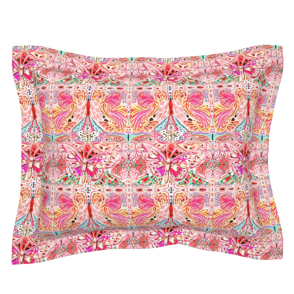 Sebright Pillow Sham featuring Butterfly Journey by jeanetta_gonzales