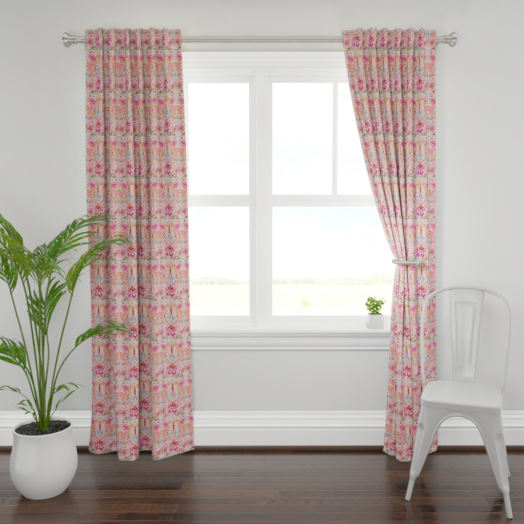 Plymouth Curtain Panel featuring Butterfly Journey by jeanetta_gonzales