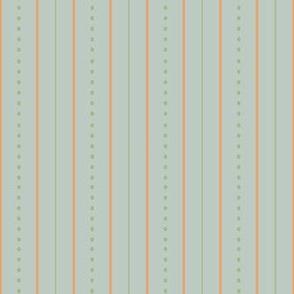 Vintage Garden Mint Stripe