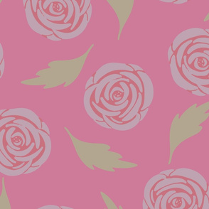 Vintage Garden Rosy Pink