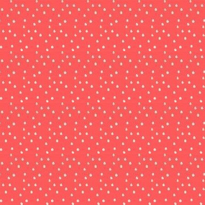 Women in Head Scarves dots in Coral