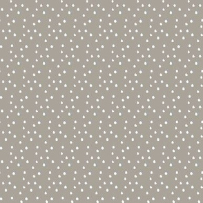 Women in Head Scarves Dots Grey