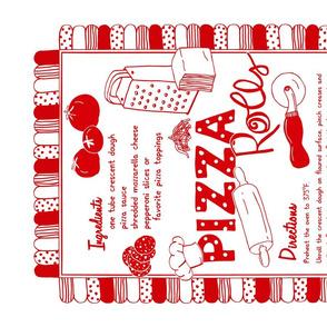 Pizza Rolls Recipe Tea Towel