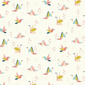 Origami birds Vintage