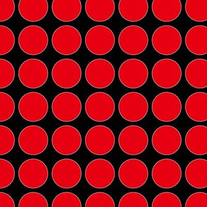 Red Dots on Black