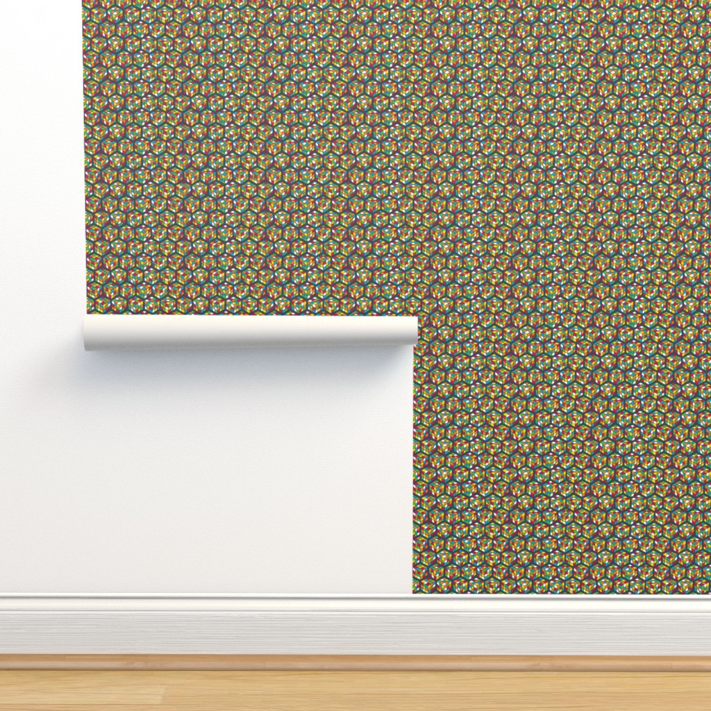 Isobar Durable Wallpaper featuring Geek Cubes Bright by penny_eversole