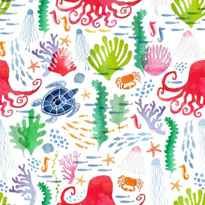 Watercolour Under the sea