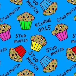 stud muffin black text