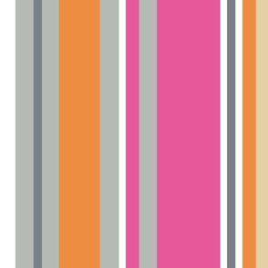 "SLICE STRIPE in ""BERRY & MANDARIN"""