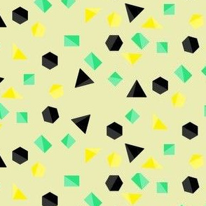 euclidean geometry in mint and yellow