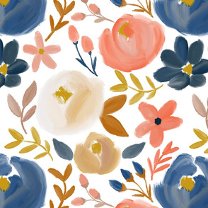 November's Florals - Fall Blooms - LARGE scale