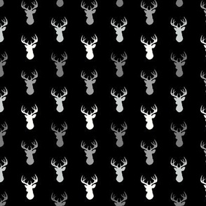 "1"" Tiny Deer - monochrome"