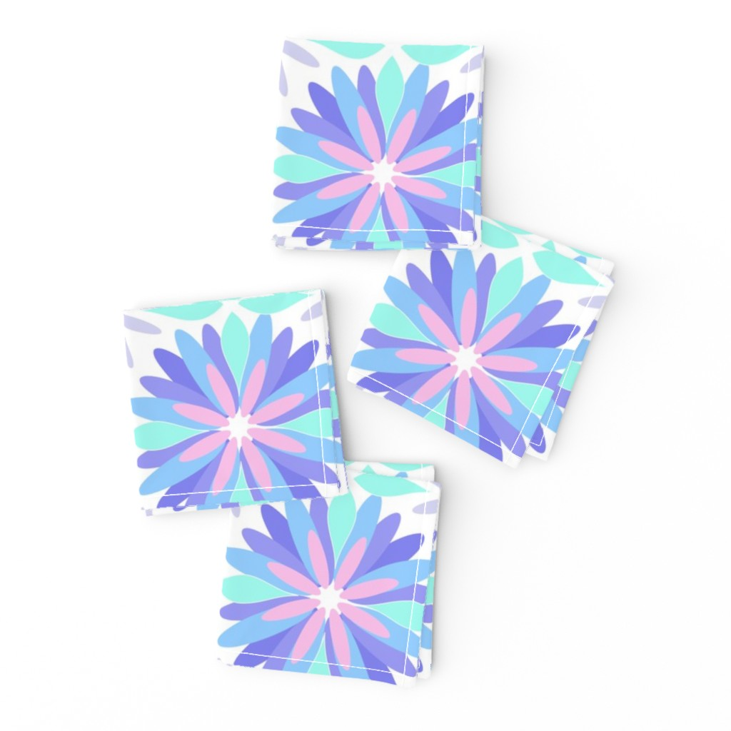 Frizzle Cocktail Napkins featuring Pastel Flower by cj_aura_design_and_decor