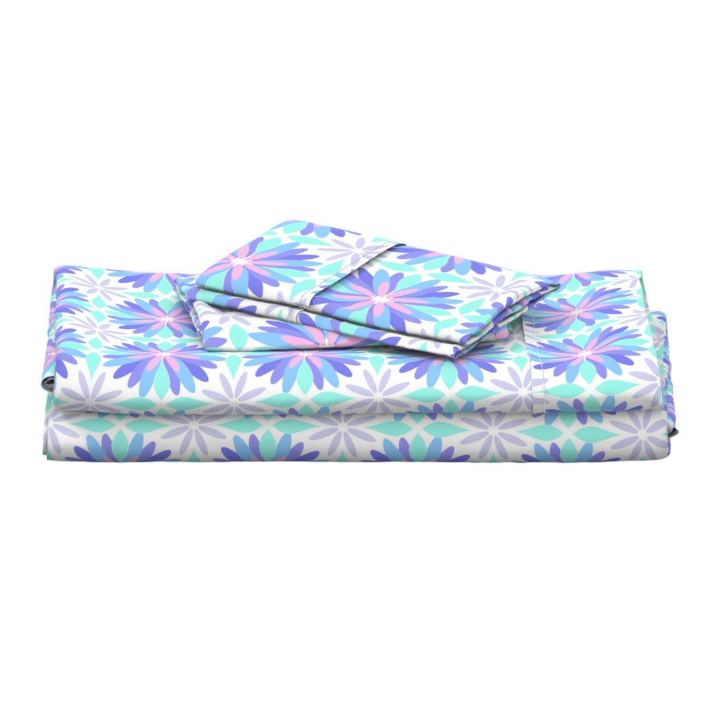 Langshan Full Bed Set featuring Pastel Flower by cjohnson_art&design