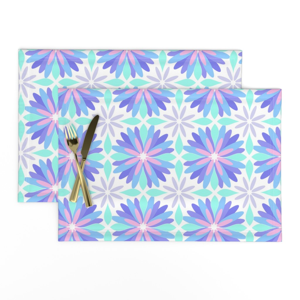 Lamona Cloth Placemats featuring Pastel Flower by cjohnson_art&design