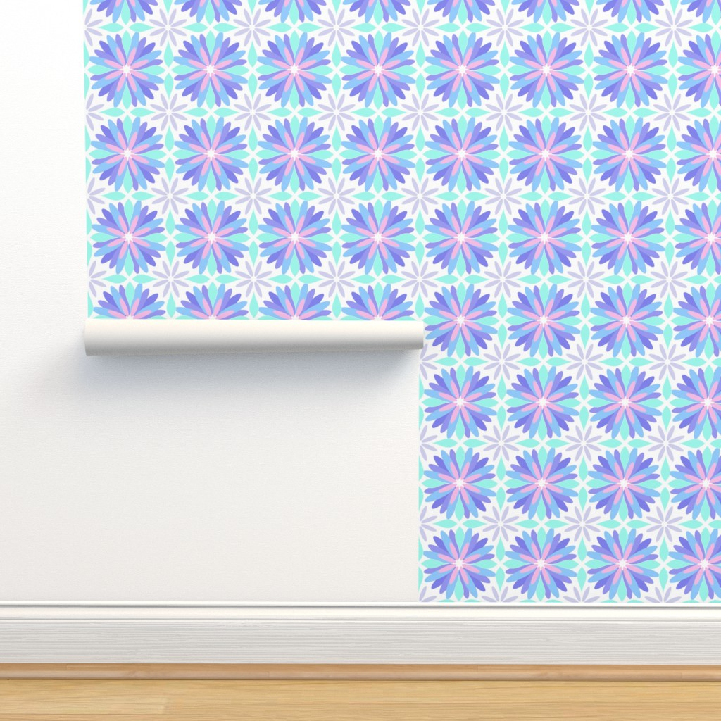 Isobar Durable Wallpaper featuring Pastel Flower by cj_aura_design_and_decor
