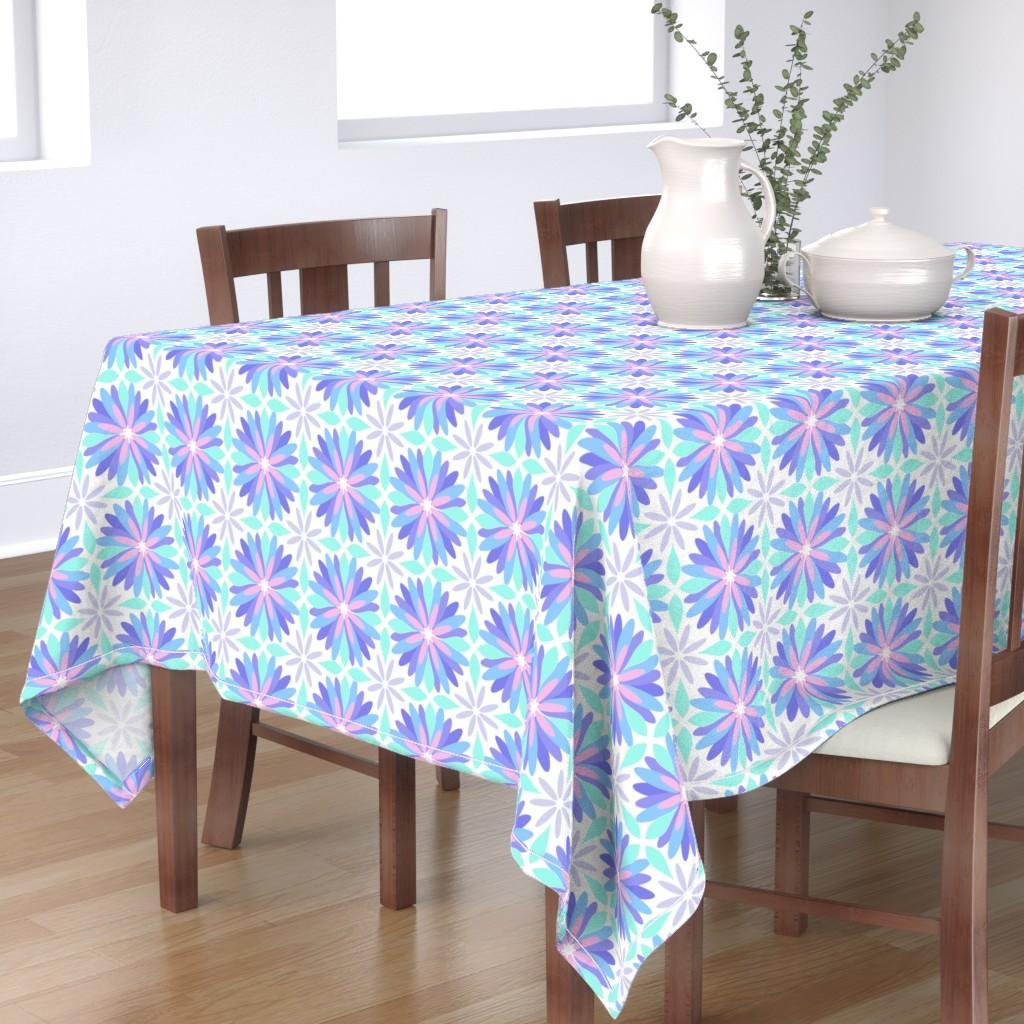 Bantam Rectangular Tablecloth featuring Pastel Flower by cjohnson_art&design