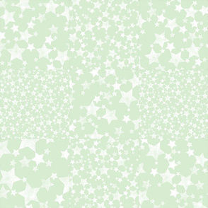 Cheater Quilt - Mint and White Star Pattern