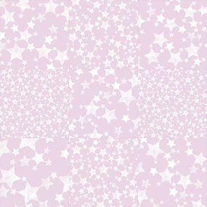 Pink and White Star Pattern Wholecloth Cheater Quilt