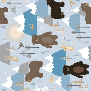 bears in mountains - rotated