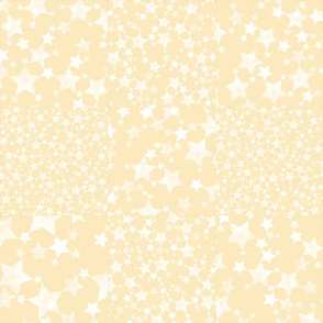 Yellow + White Magical Stars Cheater Quilt