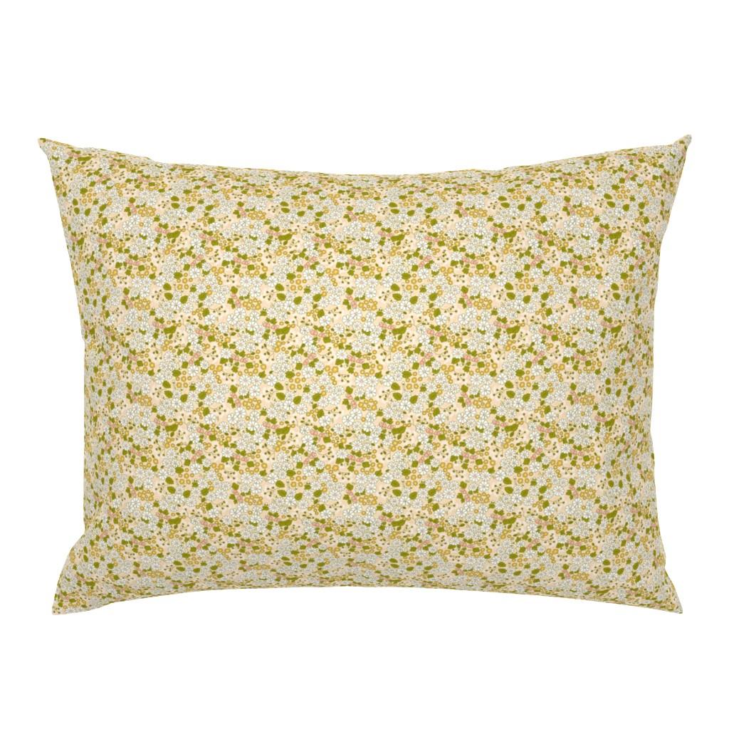 Campine Pillow Sham featuring BIG Floral 70s MAUVE 3 by morecandyshop