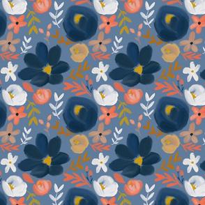 November's Florals - Autumn Blue