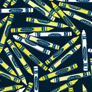 white and chartreuse crayons - for coloring firefly pictures
