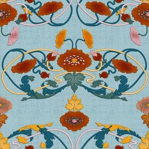 Art Nouveau Ornaments (light Blue)