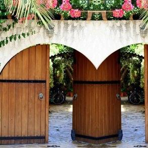 Wooden Greek Doorway