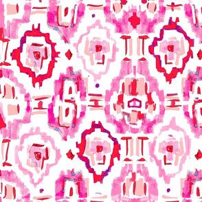 Ikat Pink XLarge