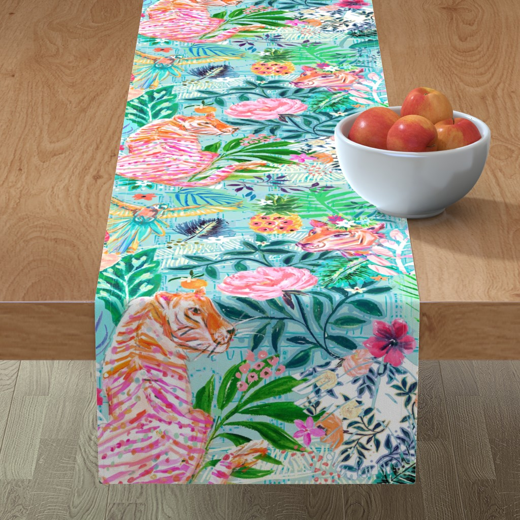 Minorca Table Runner featuring WIldwood Xlarge by jeanetta_gonzales