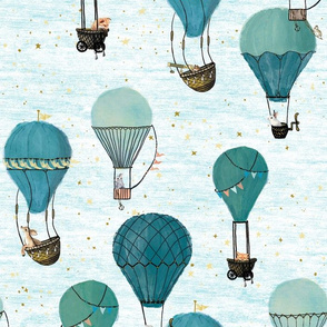 Forest Animal Hot Air Balloon Day Adventure