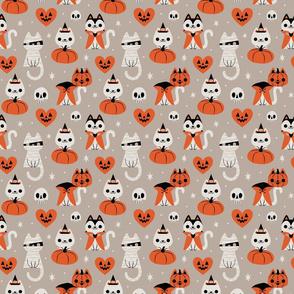 HalloweenKitties (Gray) Large