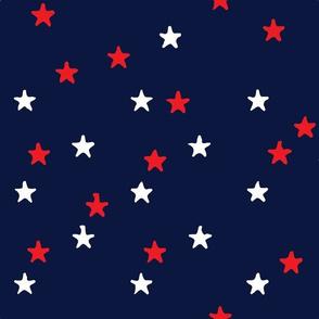 Summery Starry Pattern in red,  white & blue
