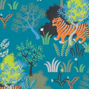 tiger tiger (teal)
