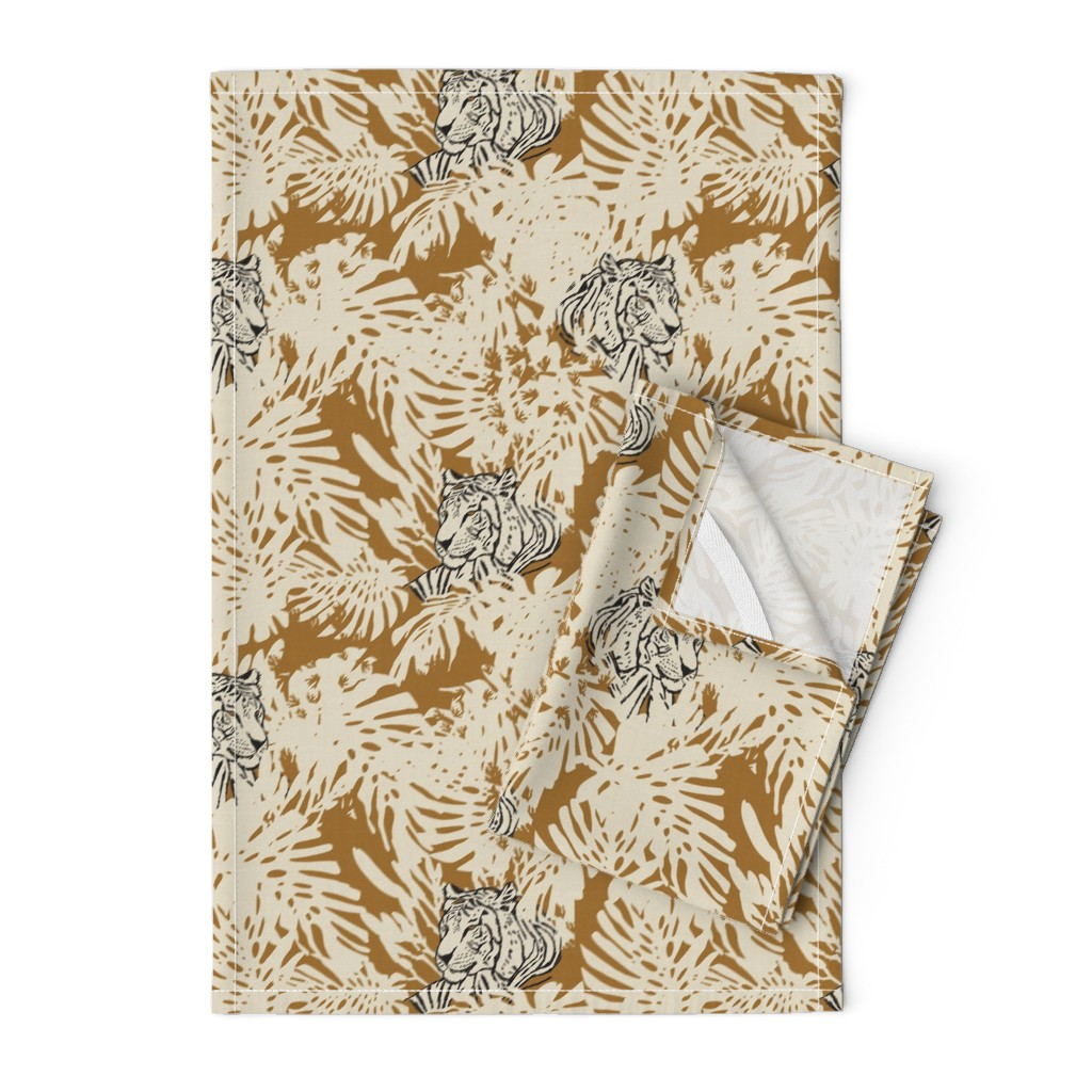 Orpington Tea Towels featuring HAMMAH JUNGLE by holli_zollinger