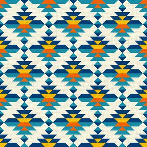 Aztec kilim diamonds modern colorful  Pillow Fabric