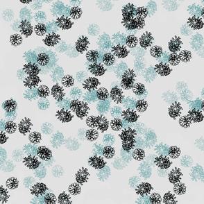 Pinecones - cold shades