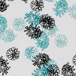 Pinecones - cold shades 2