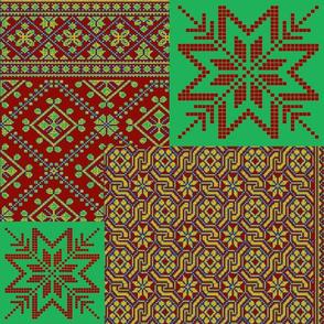 knitting fair isle christmas
